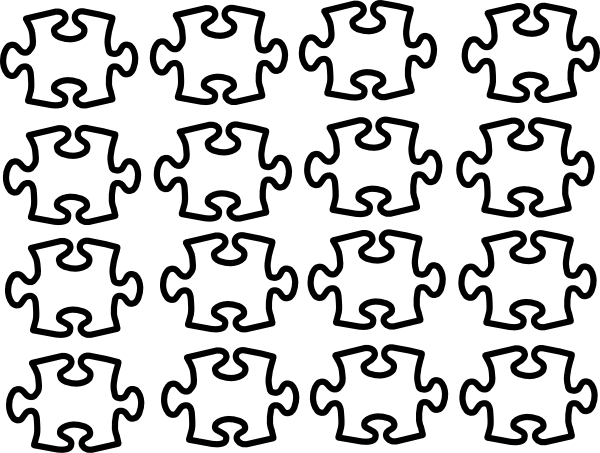 png free library Single Puzzle Pieces Clip Art at Clker