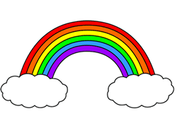 graphic free library Cartoon rainbow in . Drawing rainbows