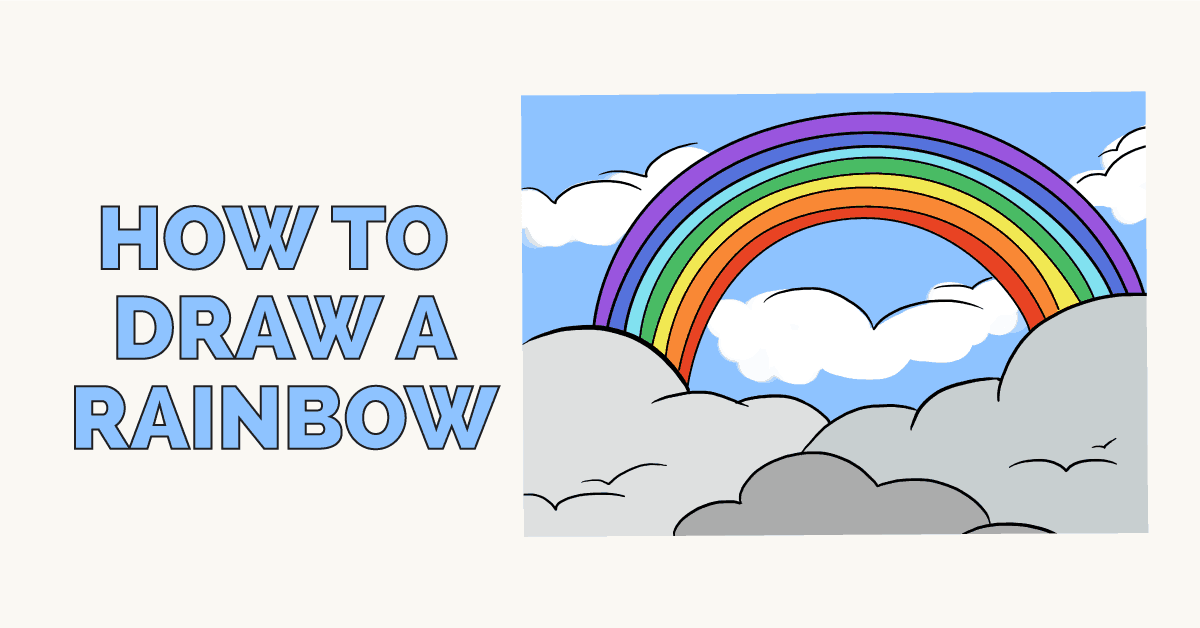 vector royalty free Drawing rainbows. How to draw a