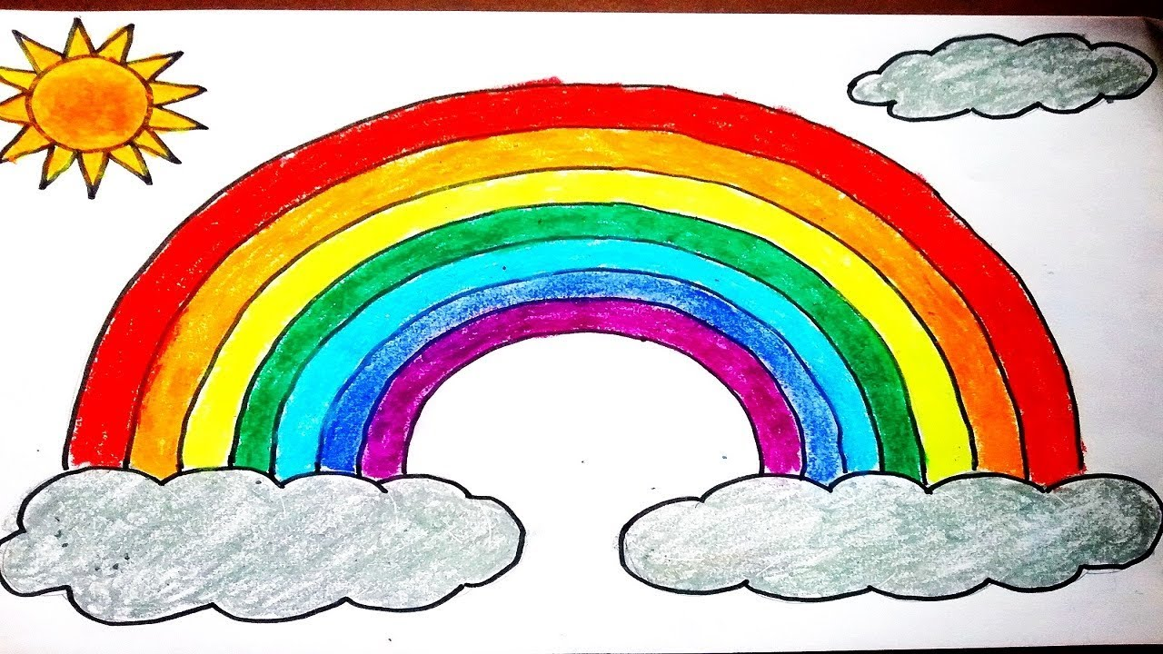 clip transparent Drawing rainbows. How to draw rainbow
