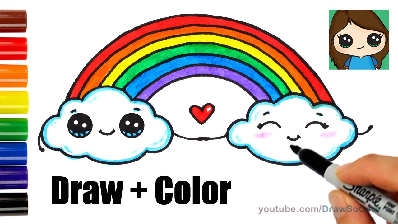 jpg transparent download How to draw a. Drawing rainbows