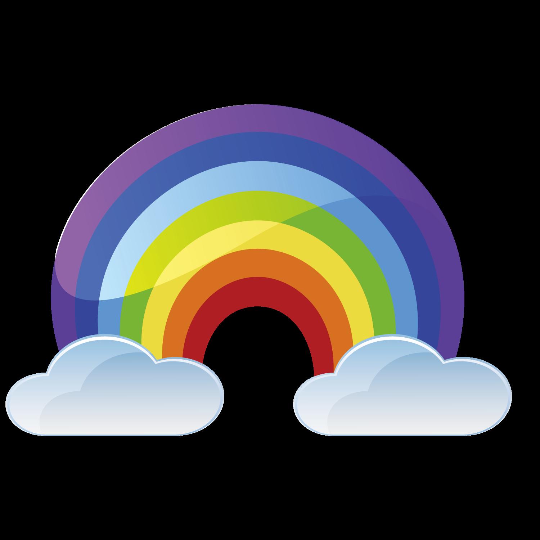 clip art Rainbow cartoon transprent png. Drawing rainbows castle