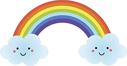 free library Happy rainbow clouds cartoon. Drawing rainbows cloud