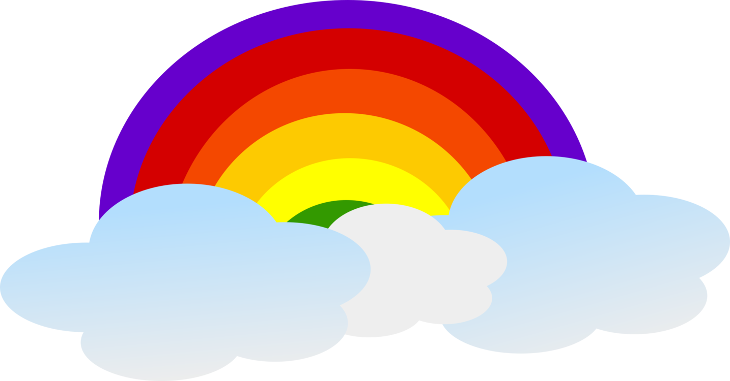 vector library stock Drawing rainbows cloud. Rainbow color sky free