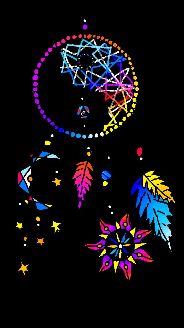 picture freeuse stock Drawing rainbows dreamcatcher. Dream catch rainbow art