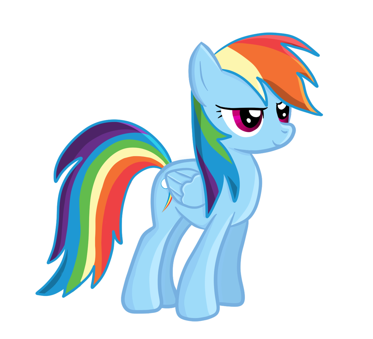 clipart library stock Rainbow dash digital by. Drawing rainbows easy draw