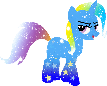 clip art freeuse stock Drawing rainbows galaxy. Rainbow power trixie by
