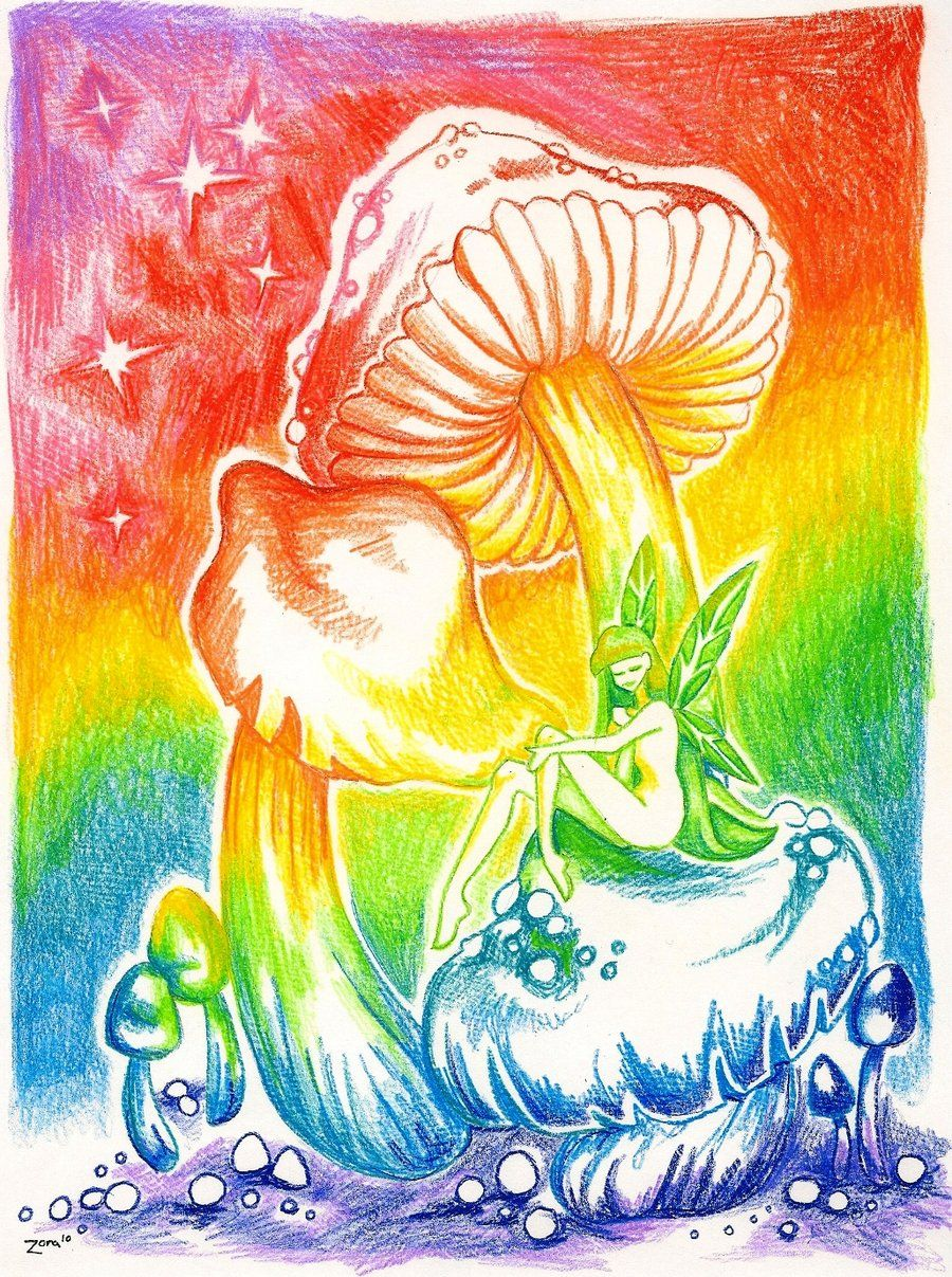 royalty free stock Drawing rainbows hippie. Drawings of rainbow mushroom