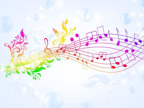 image black and white stock Drawing rainbows music note. Rainbow notes backgrounds the