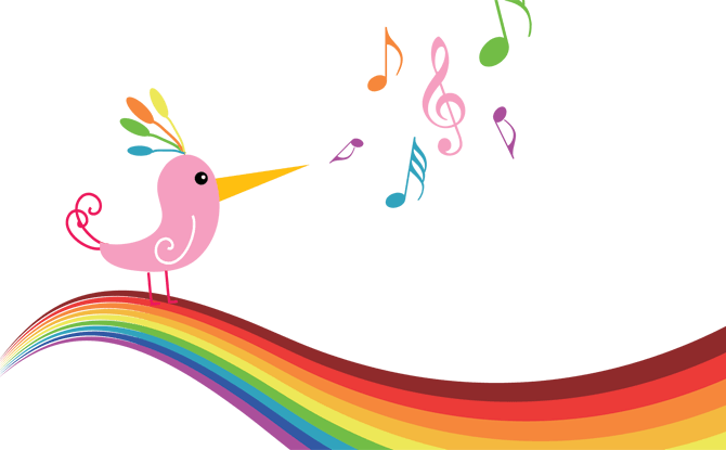 jpg freeuse  rainbow notes png. Drawing rainbows music note