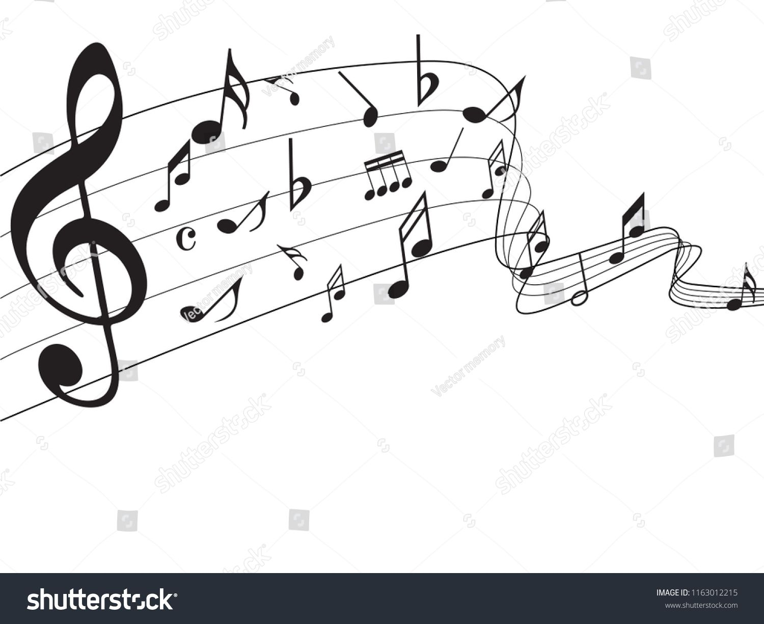 image transparent Drawing rainbows music note. Notes abstract on rainbow