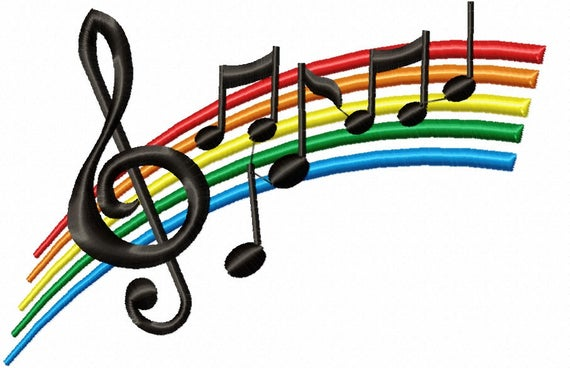 png royalty free Drawing rainbows music note. Rainbow treble clef notes