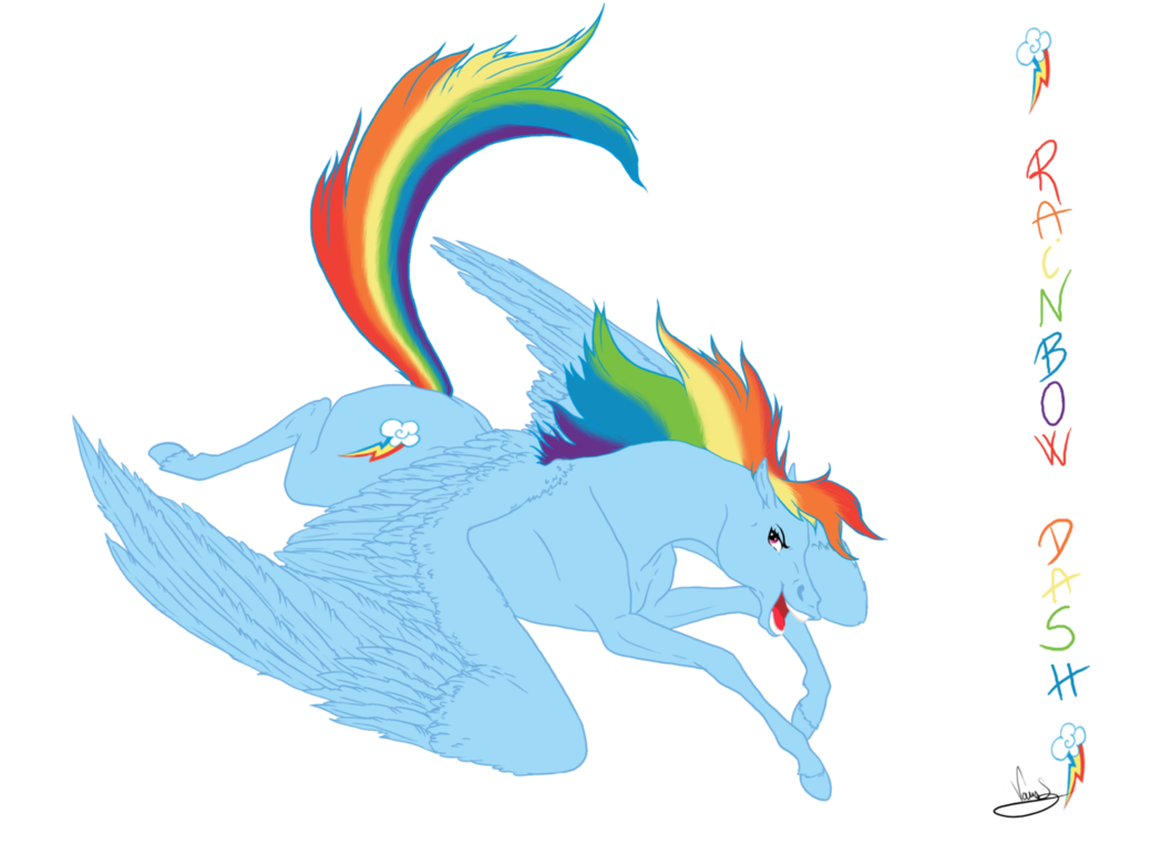 banner black and white stock Rainbow dash by vanycat. Drawing rainbows realistic