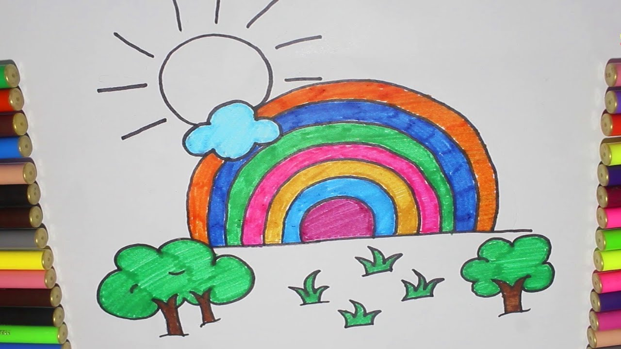 banner library download Drawing rainbows realistic. How to draw a