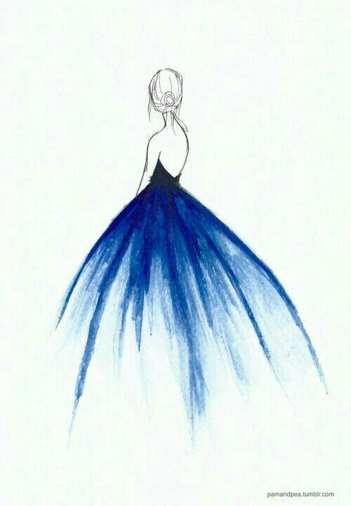 picture download Blue rainbow fashion fantasy. Drawing rainbows sketch