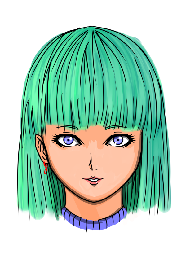 vector library download Drawing random portrait. Fast girl oc by