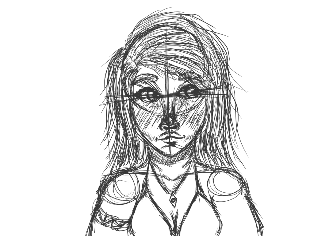 vector freeuse library Girl by withered roses. Drawing random sketch