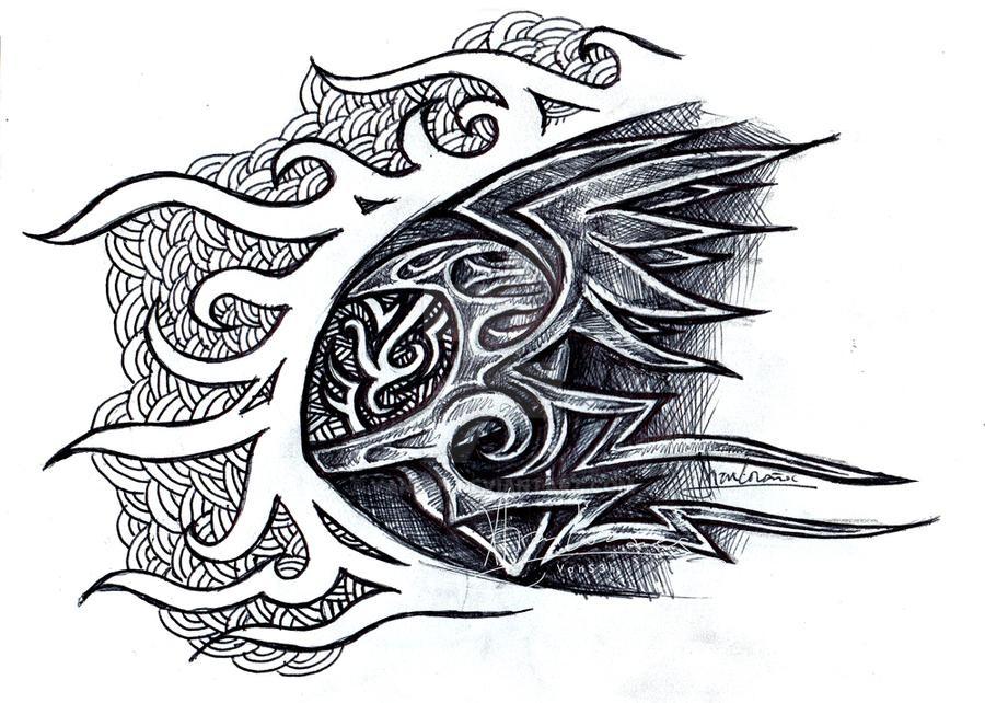 clipart free Concept by vans n. Drawing random tribal