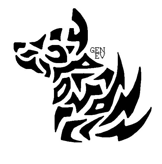 vector freeuse download Random Tribal Wolf by GenEvLee on DeviantArt