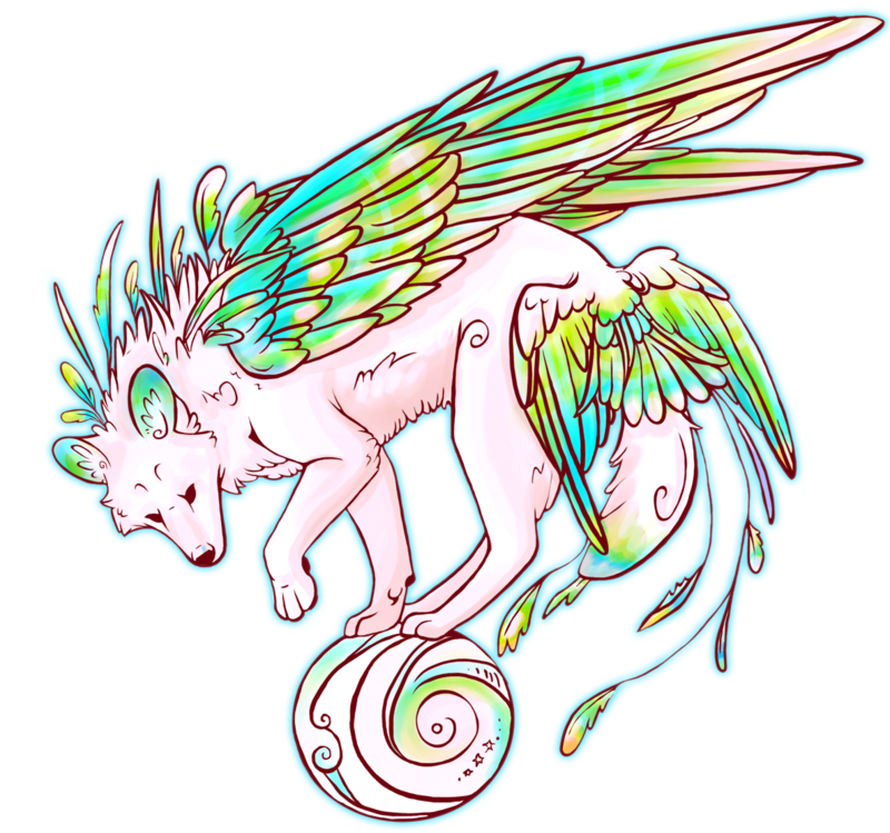 clip transparent Drawing random wolf. Winged by necktiepom on