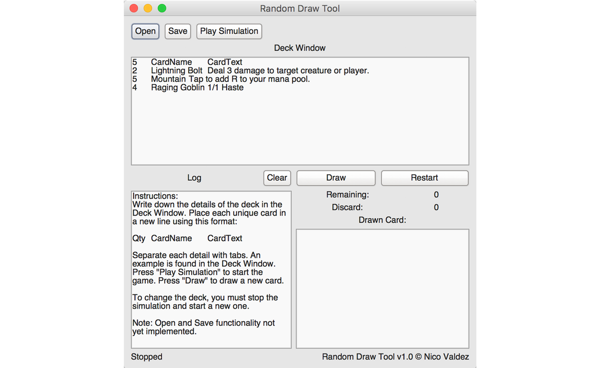 png library stock A simple card deck. Drawing randomizer basic