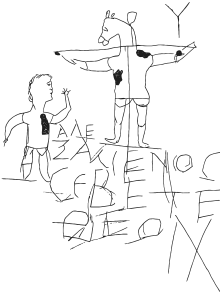 clip transparent Alexamenos . Drawing randomizer graffito
