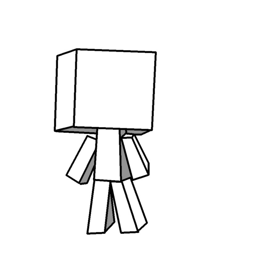 vector freeuse download Drawing rectangle blank. Minecraft player by rotton
