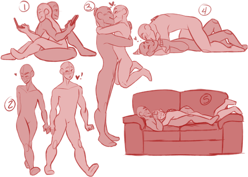 banner library download Couple ych auction points. Drawing kisses poses