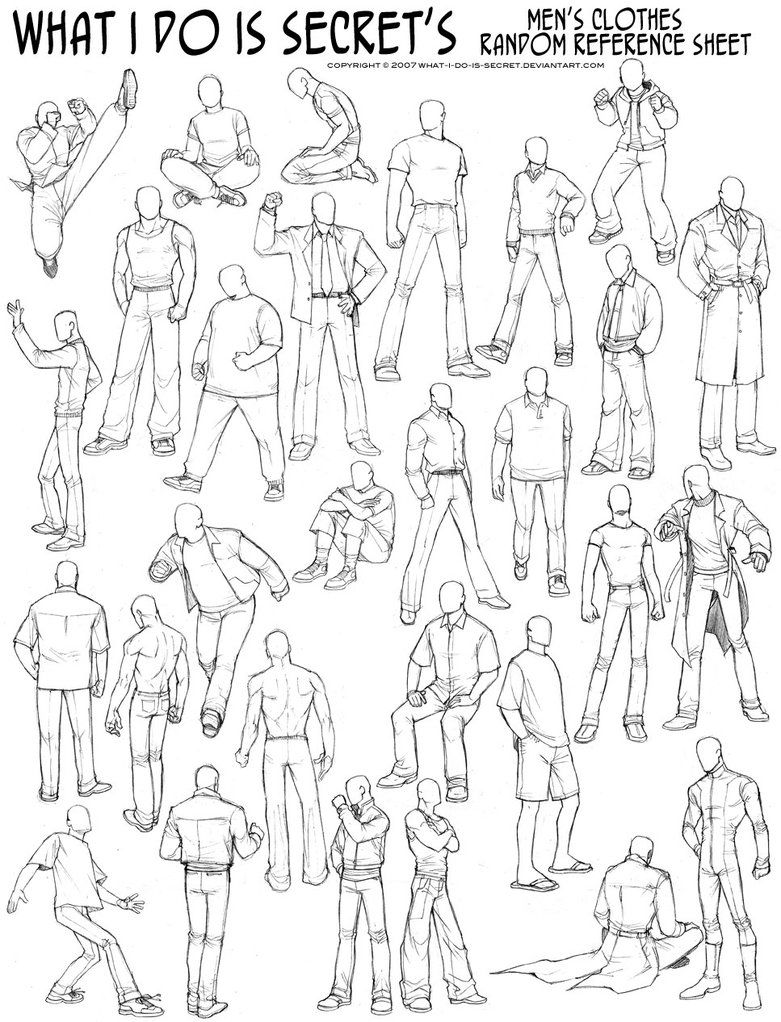 image freeuse stock Drawing ref clothing. Reference men s with