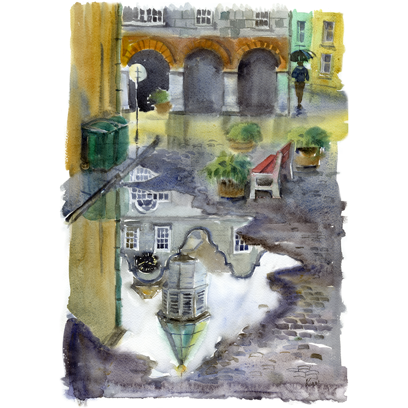 png stock Drawing reflections art. After the rain kinsale
