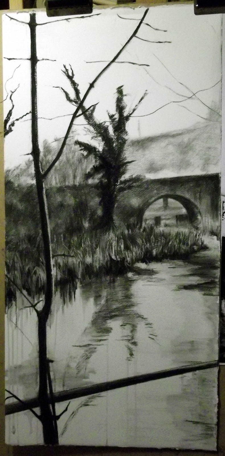 picture download Wendy rhodes artist brook. Drawing reflections charcoal
