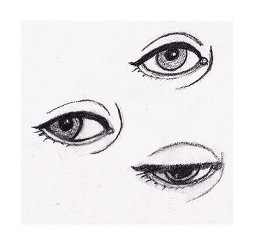 picture free library Drawing reflections face. Surrealistic how to draw