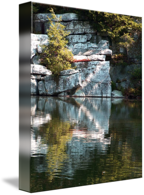 graphic royalty free Drawing reflections lake. Minnewaska by kristen fox