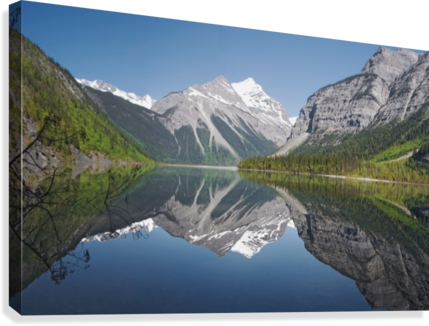 clip art library stock Mckinney mount robson provincial. Drawing reflections lake