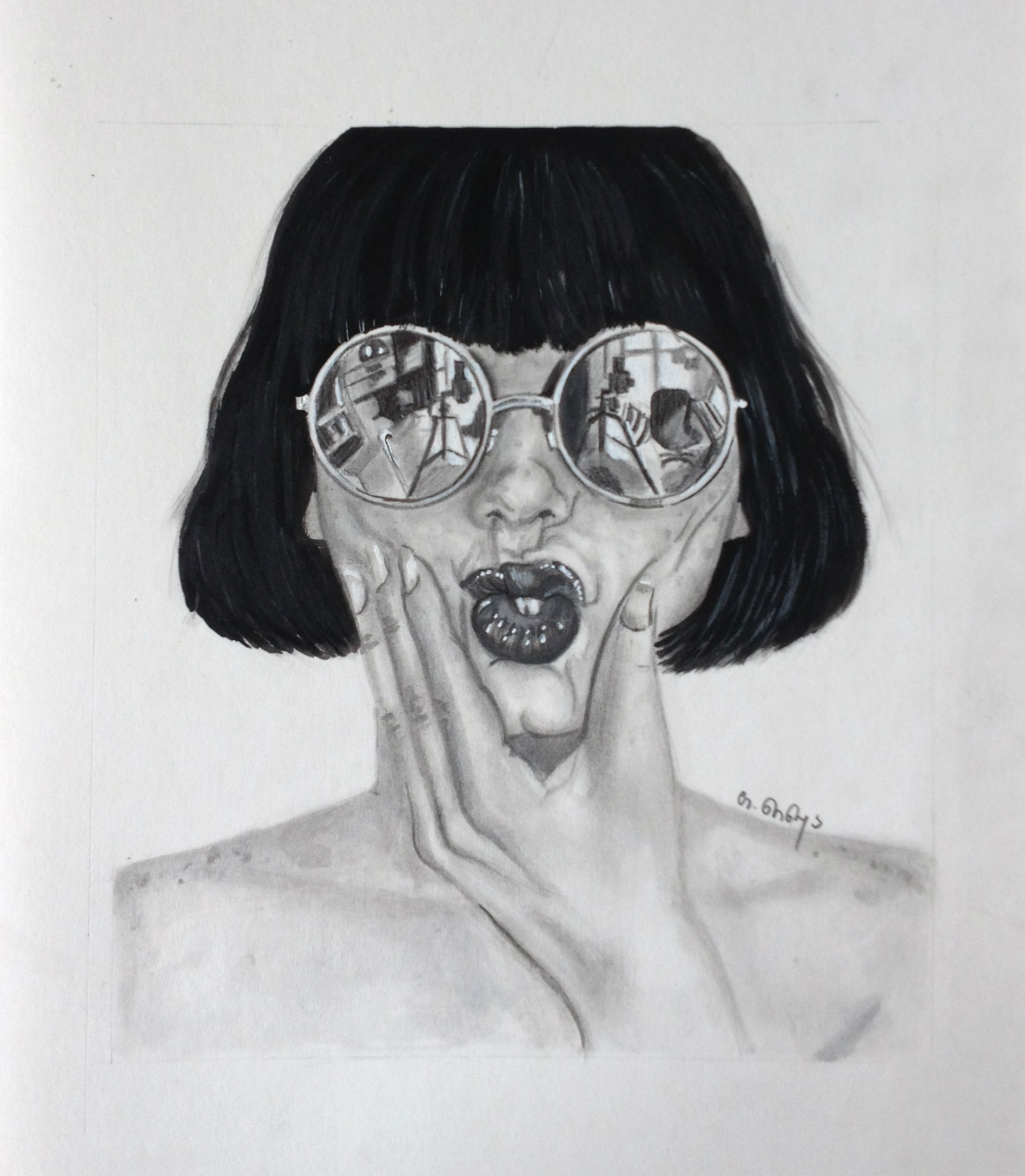 svg black and white Drawing reflections sunglass reflection. Art artist pencil watercolorpencil