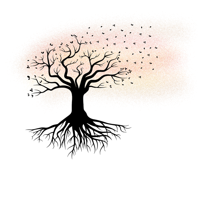 clipart free download On grief and loss. Drawing reflections tree