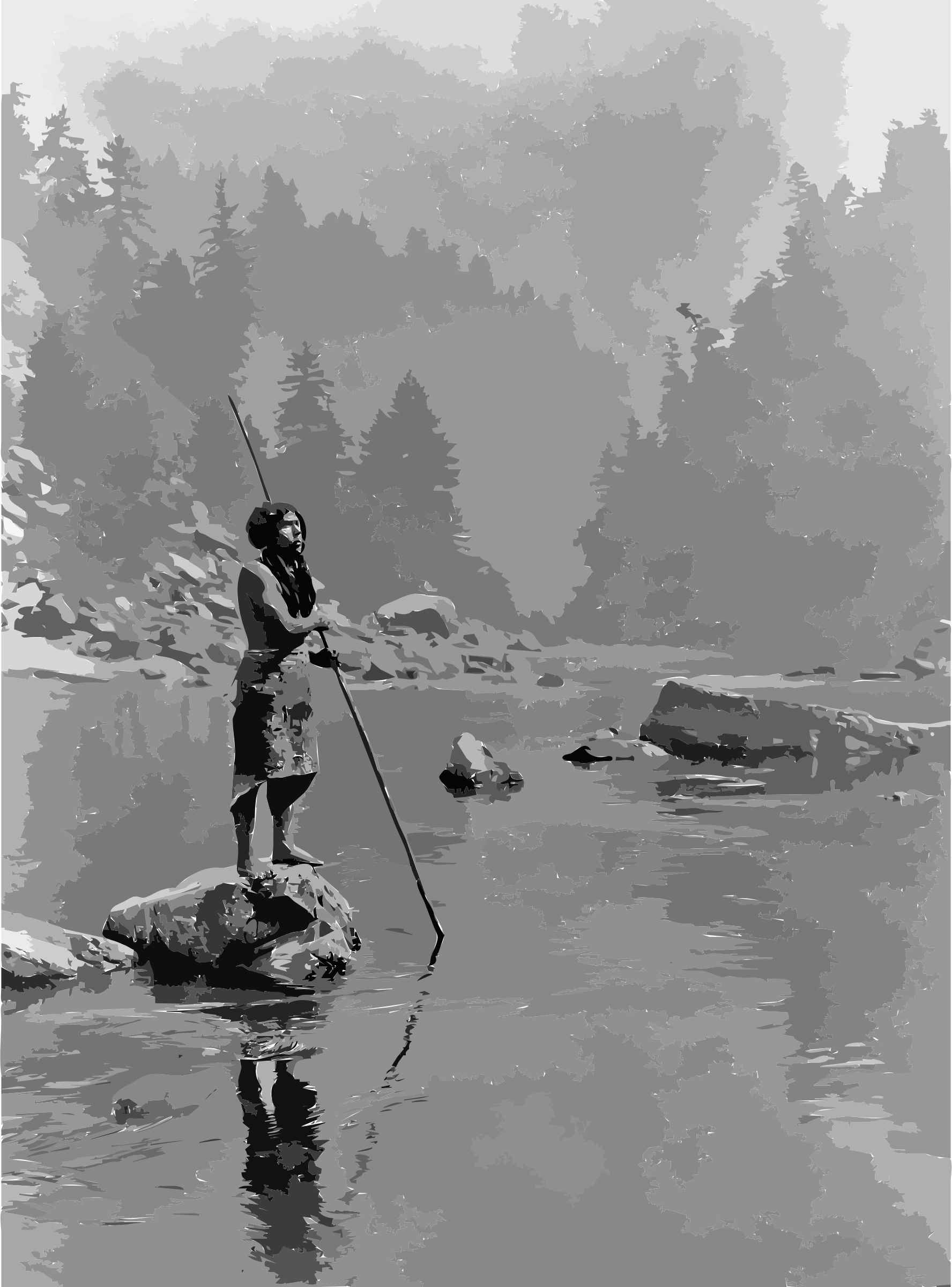 transparent download Clipart a smoky day. Drawing reflections water
