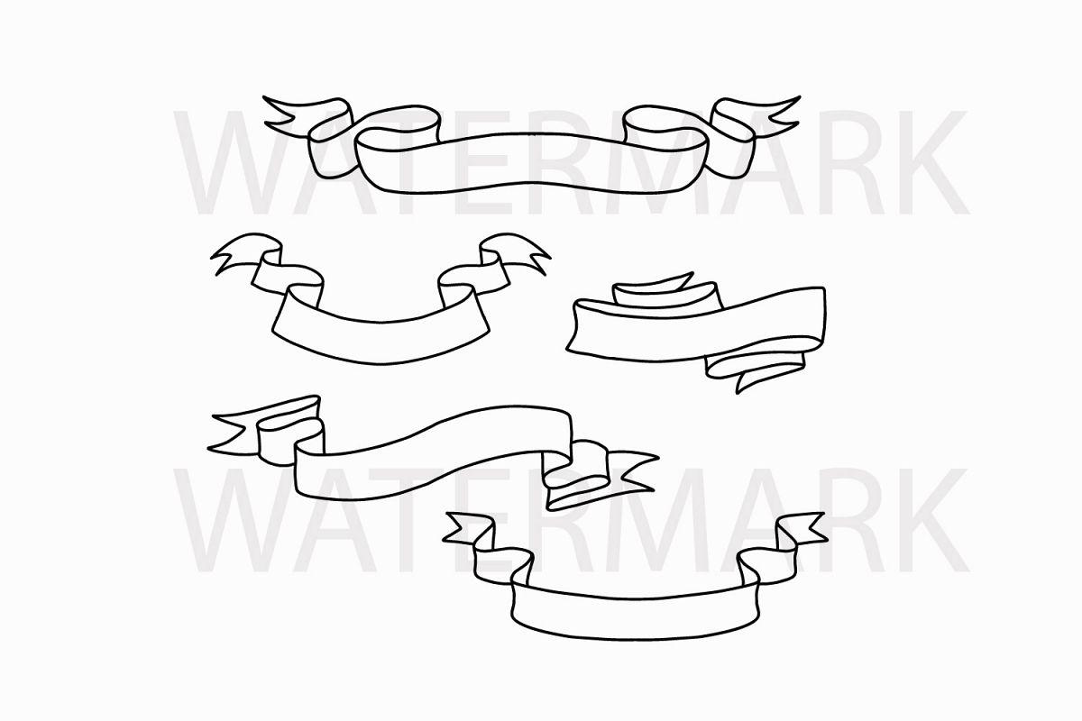 vector freeuse stock Svgjpgpng hand . Drawing ribbons