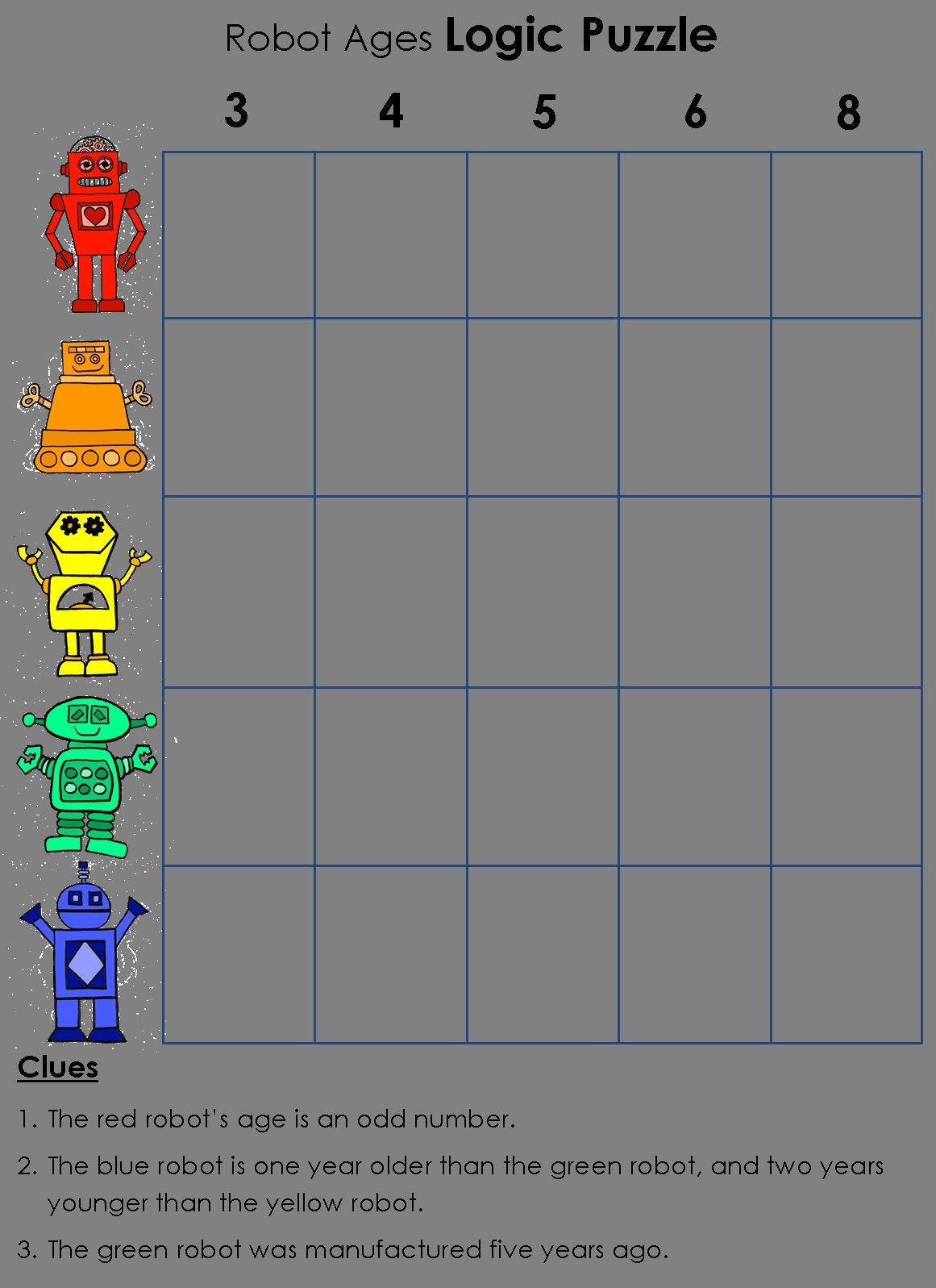 picture download Logic Puzzle Robot