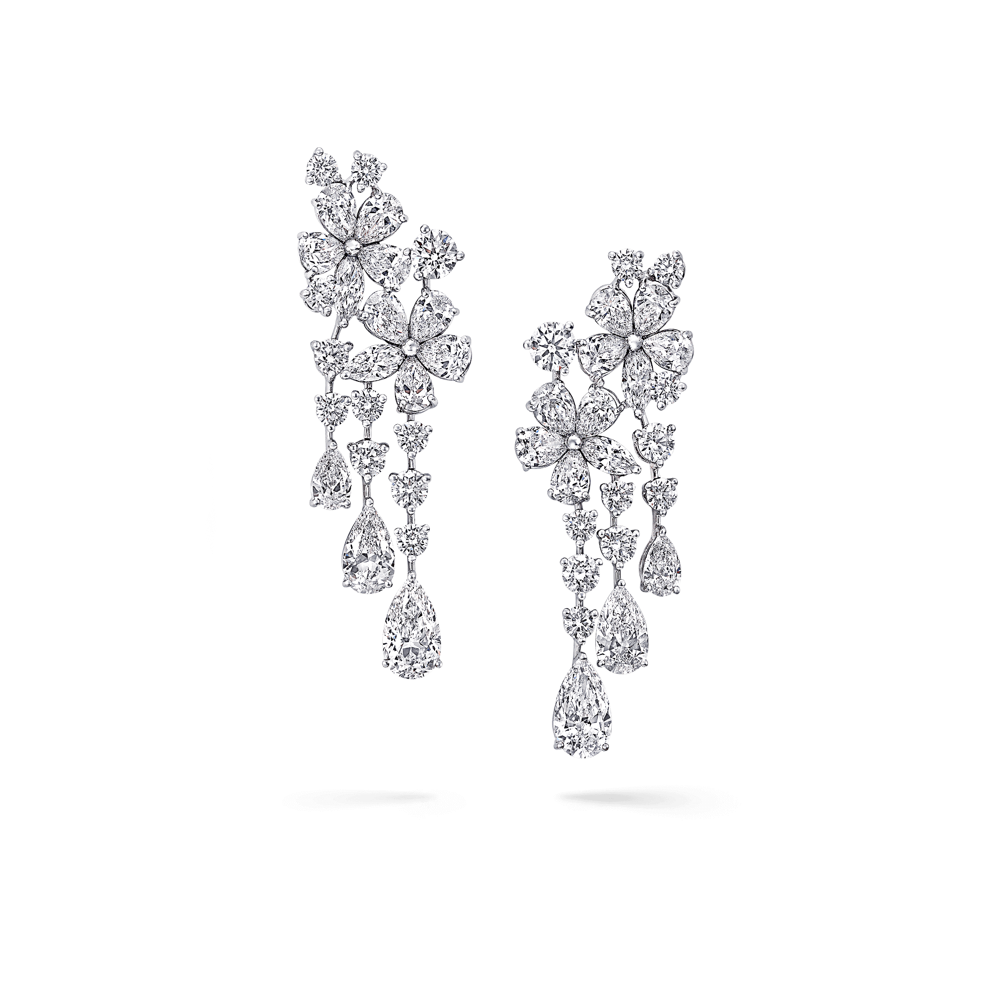 transparent download Carissa Double Flower Earrings