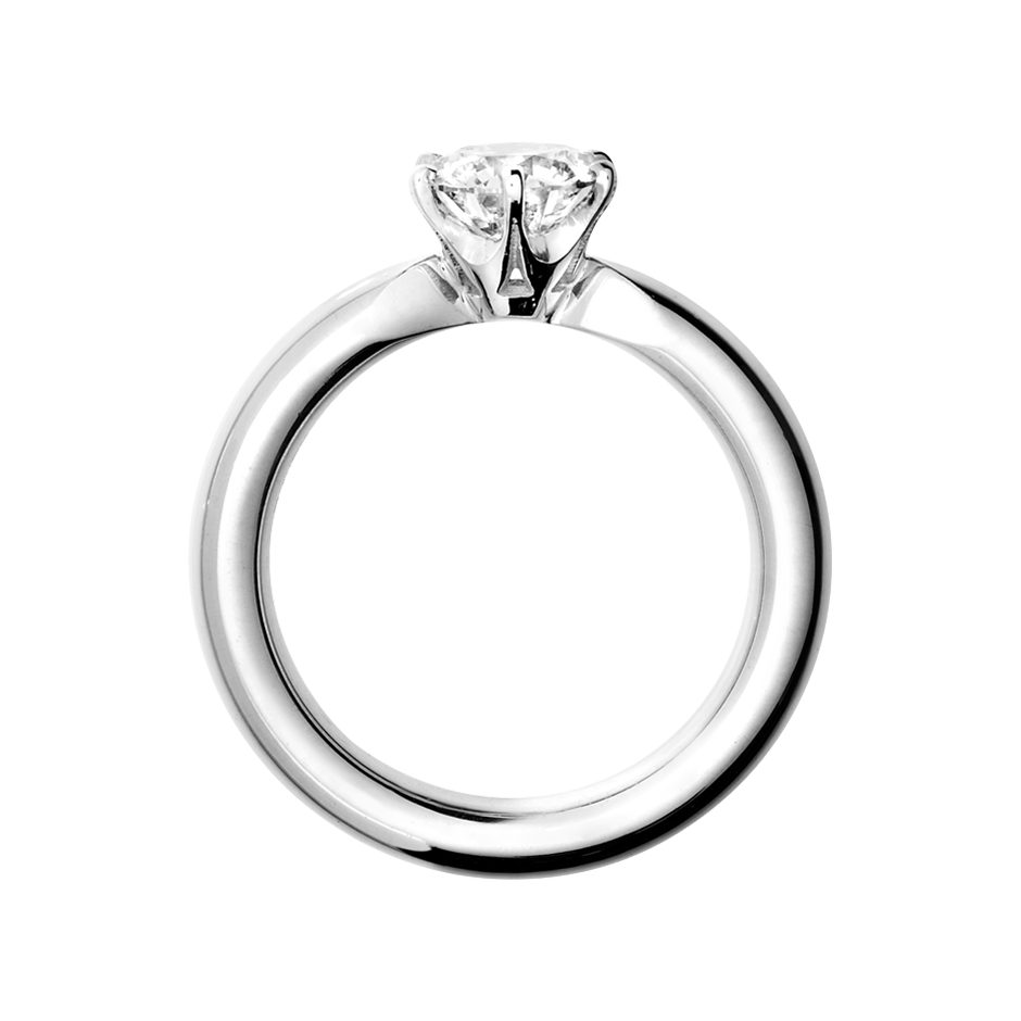 image library stock Solitaire Ring Santiago in different precious metals