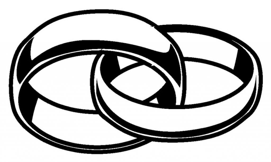 clipart black and white Two at paintingvalley com. Rings drawing wedding band