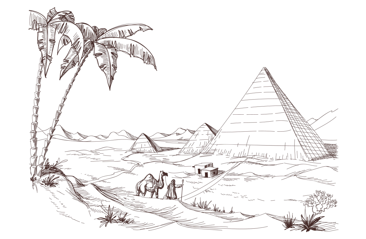 clip art free stock Boats drawing creative. Desert royalty free sketch