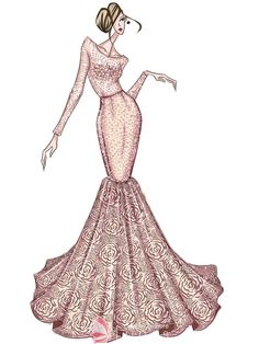 image download drawing robes evening gown #134848915