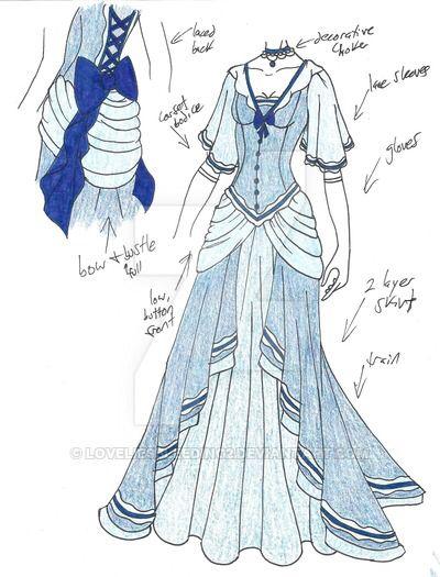 svg freeuse stock Blue Princess Dress
