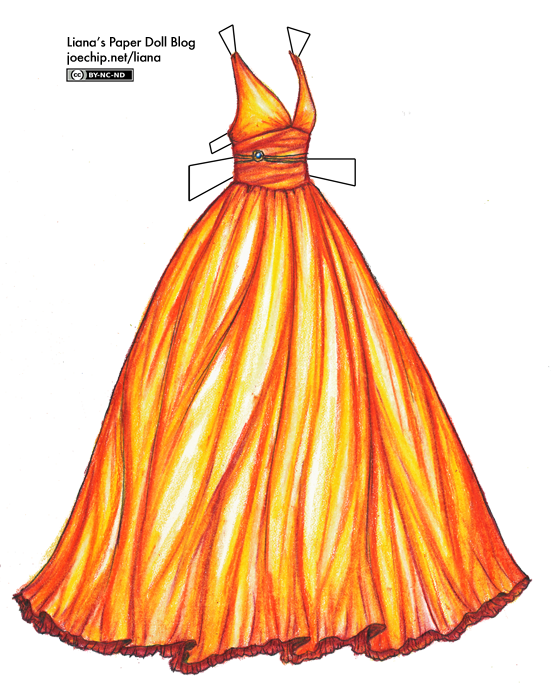 black and white download Flame Colored Gown
