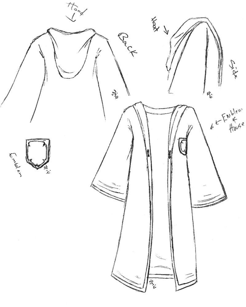graphic black and white Image result for harry potter robe line drawings