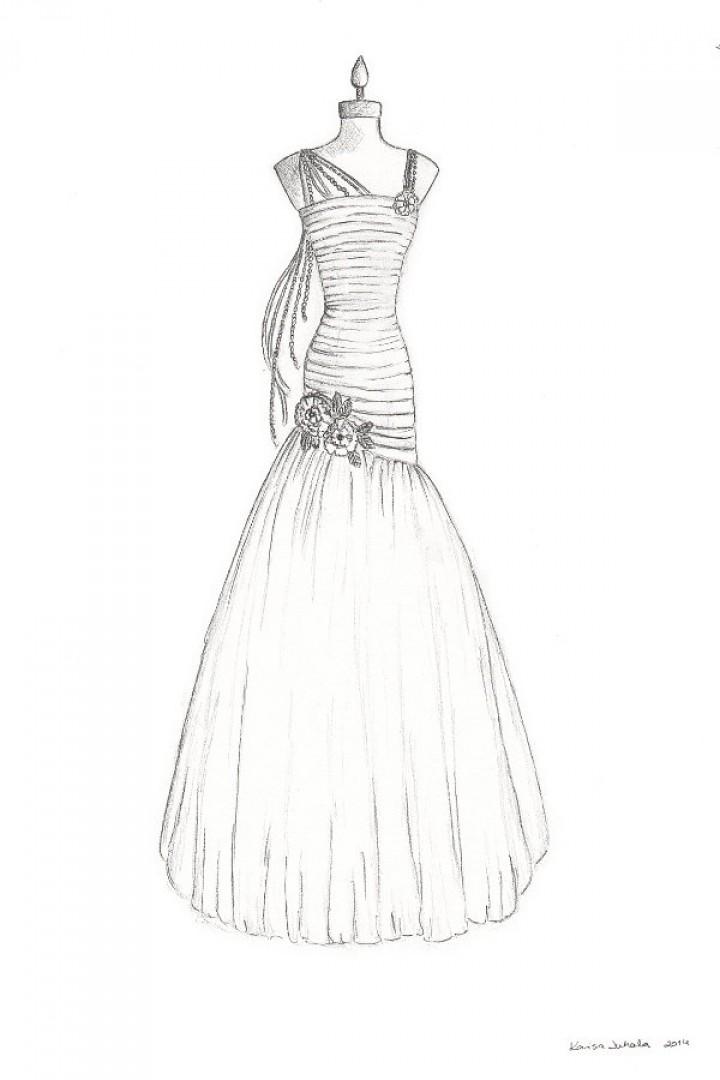 clip stock Custom Wedding Dress Illustration