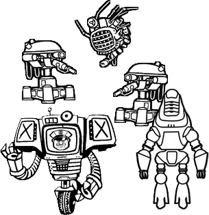 picture library download battle drawing robot #89955433