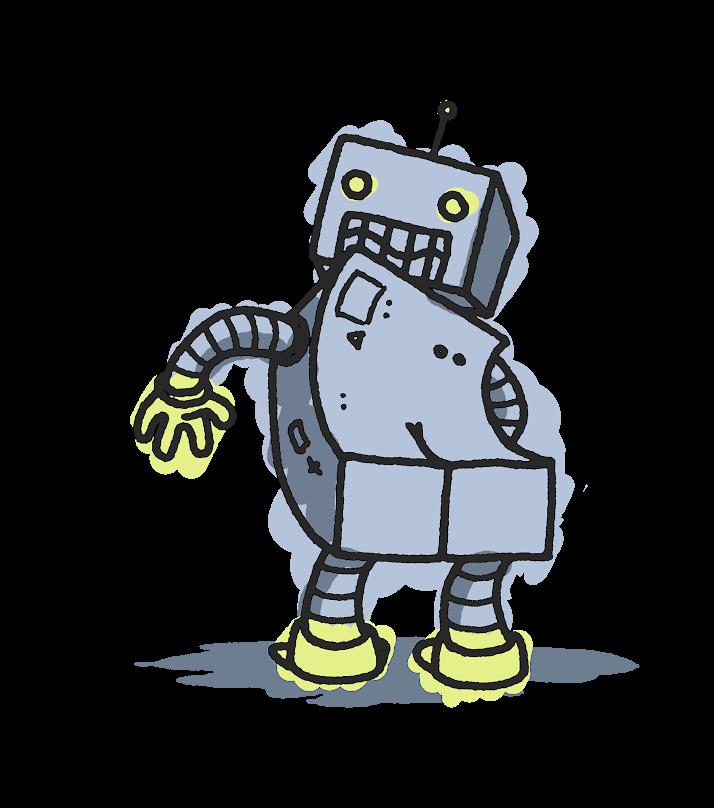 svg free stock Robot Butt